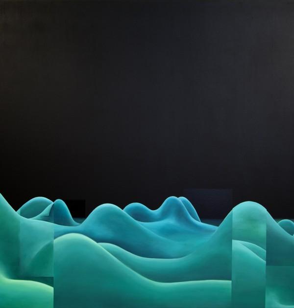 1200Copypaste landscape n°1,2, oil on panel, 196 x 239 X 5 cm, 2009