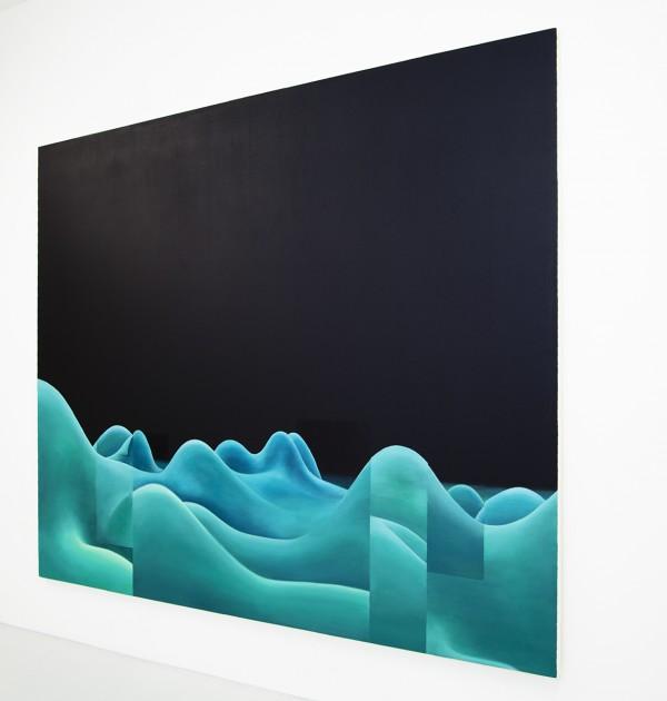 1200Copypaste landscape n°1(detail), oil on panel, 196 x 239 X 5 cm, 2009