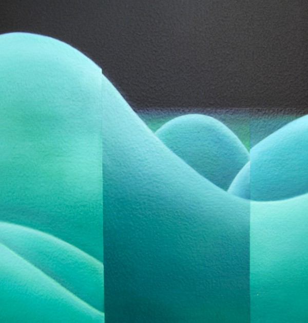 1200Copypaste landscape n°1(detail3), oil on panel, 196 x 239 X 5 cm, 2009