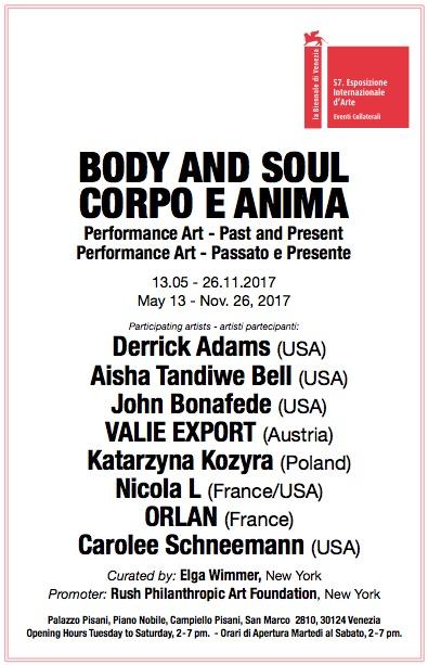 L'exposition «Body and Soul: Performance Past and Present» présente des artistes performers internationaux pour la Biennale de Venise