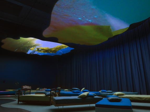 Video art and multimedia installations by Pipilotti Rist at the Museum of Contemporary Art Australia in Sidney
