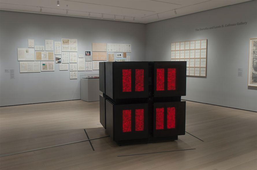 """""""Thinking Machines"""", art and technology as a means to reconsider artistic production at the MoMA in New-York"""
