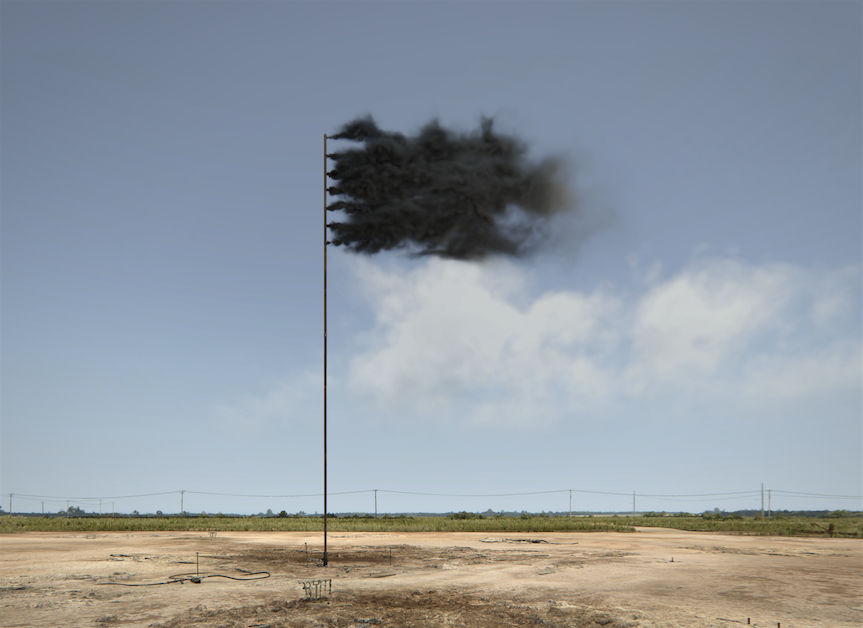 ohn Gerrard, Western Flag (Spindletop, Texas) 2017_courtesy of the artist