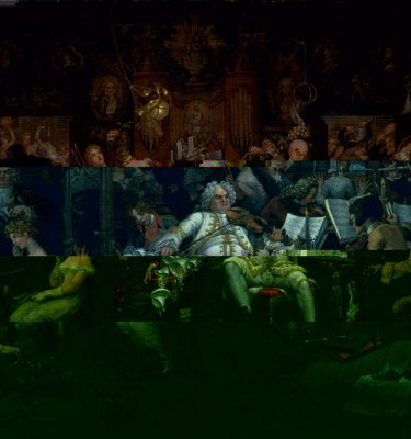All glitched up – BP Loud Code! – Edward Francis Burney, Amateurs of Tye – Wig Music (Tate Britain)