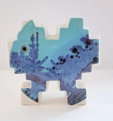 Little invaders n°6 (Ceramic sculpture in collaboration with Kimi Kim)